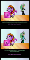 Blow-up party comic by Azurelly
