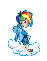 Human RainbowDash. by MentaGranizada