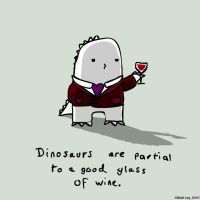 Dinosaur Facts - Wine by DeathByStraws