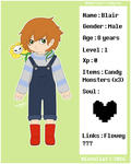 Undertale OC - Blair Charactersheet by Niutellat