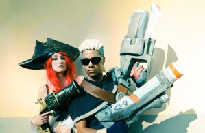 Miss Fortune and Lucian Hired Gun Cosplay [LOL] by Ka-Xanx21