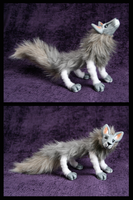 Fluffy wolfie posable doll by DArtJunkie