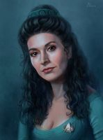 Deanna Troi by Ilnere