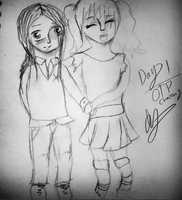 OTP Challenge Day 1: Holding Hands by IvyDevi