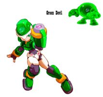 MegamanZX LiveMetal:GreenDevil by BarryBurton