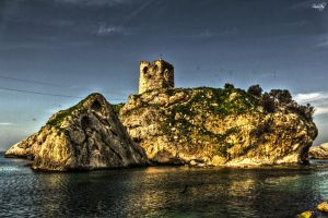 Huge Rock and Castle by sinanrby
