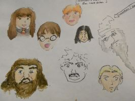 Harry Potter-Sketches (Unfinished) by lilmirokufangirl