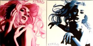 Lady Gaga Showstudio Paintings by kpotatodorkk
