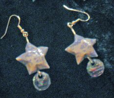 Star earrings 2 by Selenere
