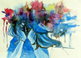 exploding thoughts by peachieva