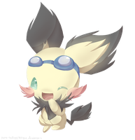 .: GIFT :. Sparks the Pichu by poke-helioptile294