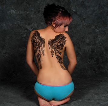 back tattoo by islandmolly