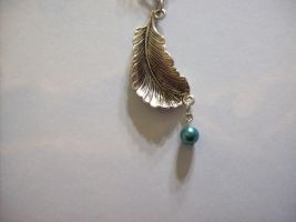 Feathered Necklace Pendant by Sashei-Alexandre