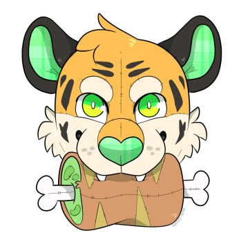 Tiger Plushie sticker design by Ghost-Soap