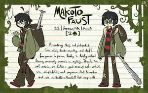 WoD Pacific: Makoto Faust by LlamaDoodle