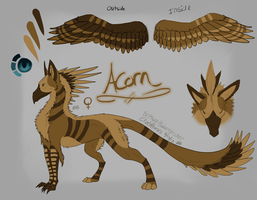 Gryphon Reference - Acorn by ElvenHorses