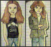 Cliff Burton and Lars Ulrich by nirvana8267