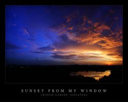Sunset from my Window by waiaung