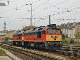 M62 313 and 308 in Gyor on 2011 october by morpheus880223