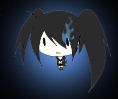 Black Rock Shooter's Big Head by jen-den1