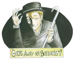 God's Away on Business by livemylex