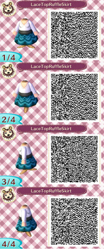 Lace Top Ruffle Skirt Blue QR Code by ChibiBeeBee