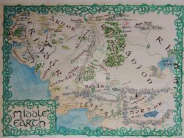 Middle Earth Map by Insholent