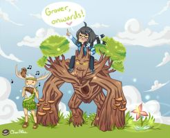 SMITE Fanart: Grover, Sylvanus and Me~ by Sniggle-Wiggle