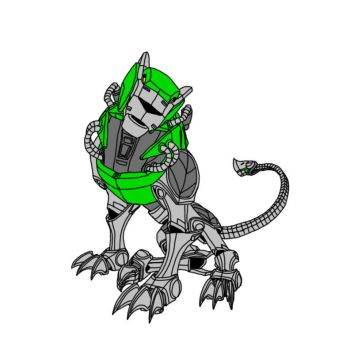 Voltron Force - Green Lion by W-Double