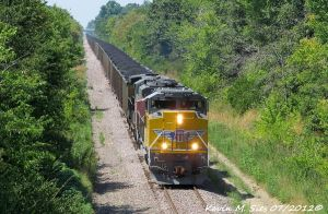 UP 8769 and SP Patched 6367 lead Coal rural IL by EternalFlame1891