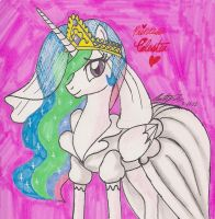 Princess Celestia in Wedding Dress by newyorkx3