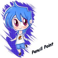 Chibi Humanized Pencil Point by Doggie999
