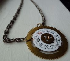 Ticking Away Necklace by Audriana