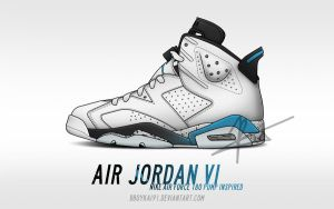 Air Jordan 6 - Air Force 180 Pump Inspired by BBoyKai91
