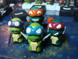 chibi tmnt by slipkrich