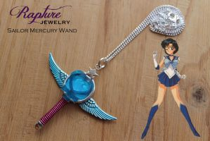 Sailor Mercury Wand Pendant by RaptureJewelry