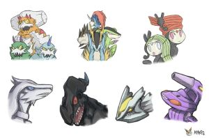 Gen 5 Legendary Pokemon by ayyk92