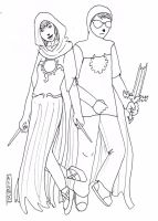 Rose and Dave - God Tiers by penut-butter-goddess