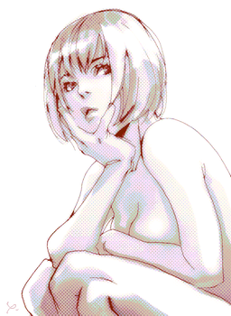 doodle nude by 89g
