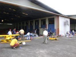 Pits in Hangar 1 and 2 by synersignart