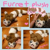 Pokemon FURRET plush pokedoll by scilk