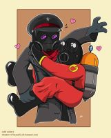 Pyro Loves Ze Captain by shadow-of-insanity