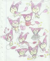 Skitty sketchs by SweetSilvy