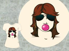 Aviator Girl T Design by pica-ae