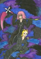 Marluxia and Larxene by confuzed-anime-fan