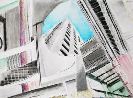 Abstract Cityscape by akuinnen24