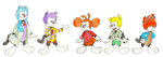 Warner-ified Fraggle Five by GrishamAnimation1