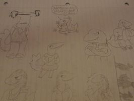 ANTHROPOMORPHIZED SHARKS THAT GO TO A SCHOOL by LowlyWorm