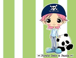 Pirate Dede and Panda by DinaUAE