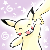 Pika says Hi by Spilled-Sunlight
